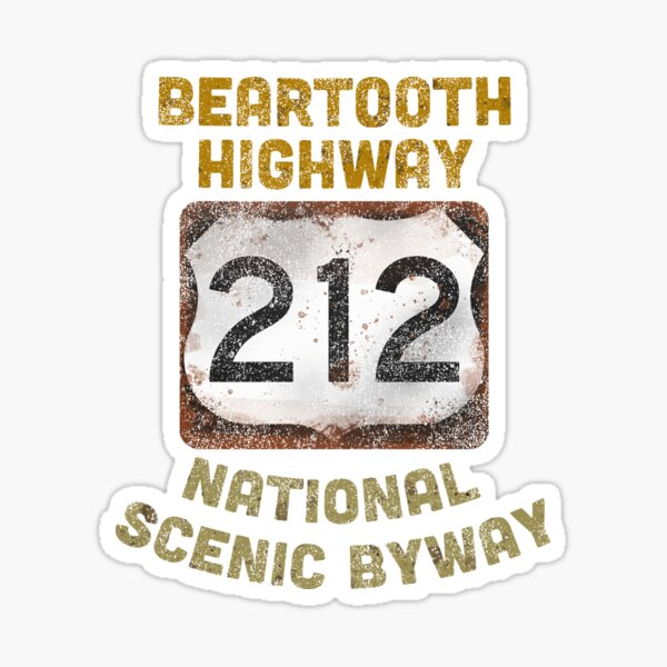Beartooth Highway Yellowstone National Park Sticker