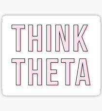 pink think theta Sticker