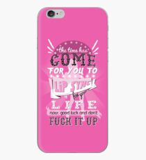 Lip Sync for your Life! iPhone Case