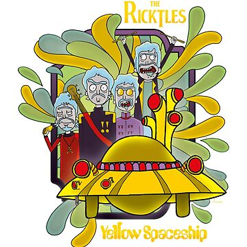 THE RICKTLES - YELLOW STARSHIP by Threewisemonks
