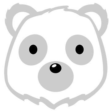 Ice Bear Head by pda1986