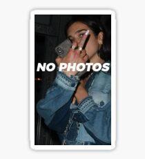 NO PHOTOS Sticker