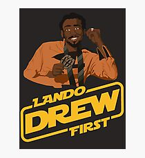 Lando Drew First Photographic Print