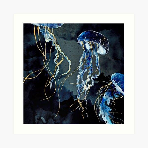 Metallic Ocean III Art Print