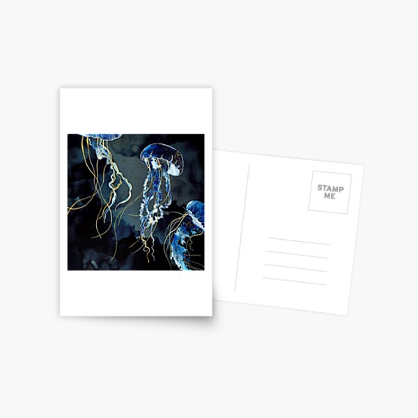 Metallic Ocean III Postcard