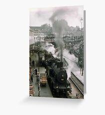 Steam trains at Bern Station 19570921 0009 Greeting Card