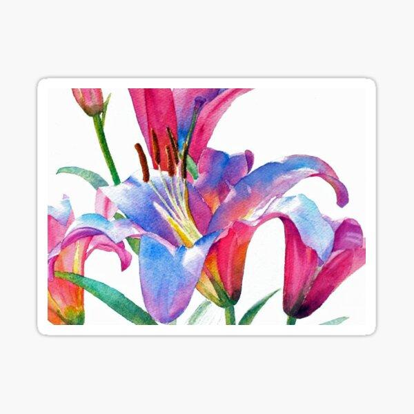 Watercolor Lilies Sticker