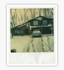 Winter Abode Sticker