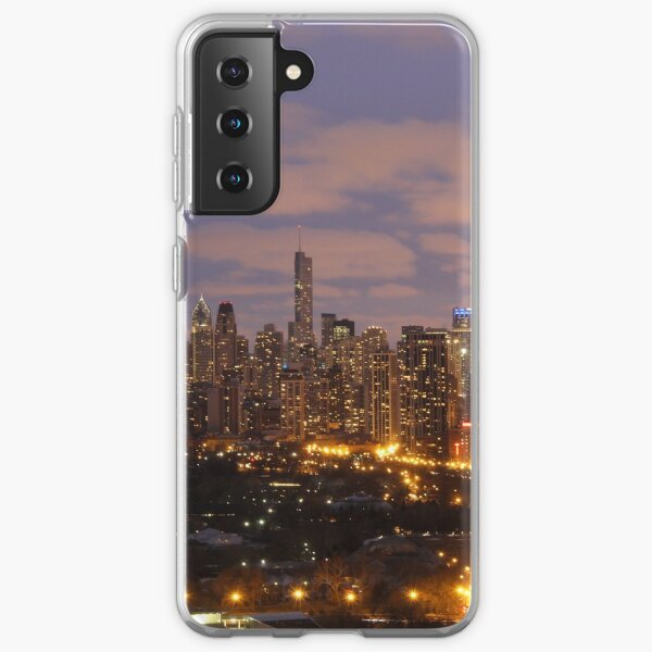 Chicago skyline sunset Samsung Galaxy Soft Case