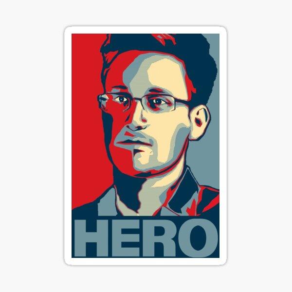Edward Snowden Hero Art Sticker