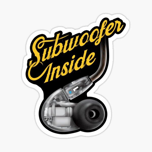 Subwoofer Inside Earphones  Sticker