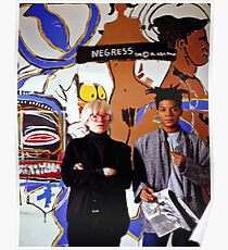 warhol and basquiat Poster