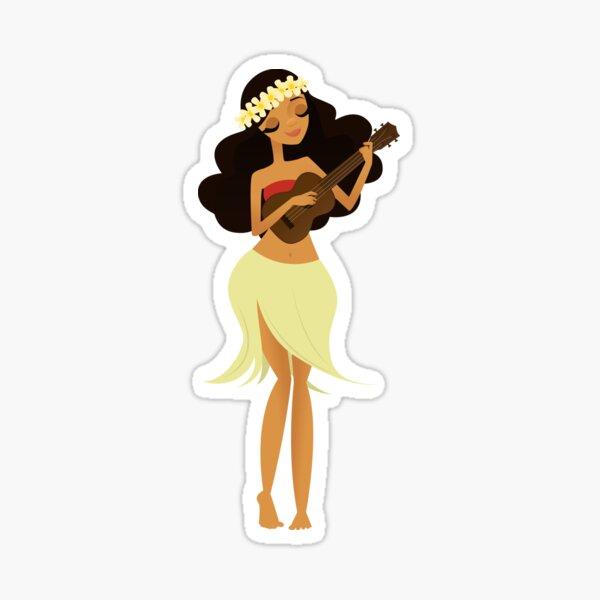 Ukulele Girl Sticker