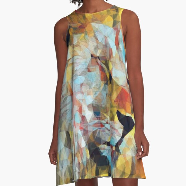 Jah Lion King of Kings A-Line Dress