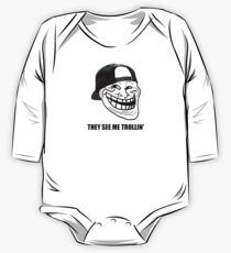 They see me TROLLIN'  One Piece - Long Sleeve