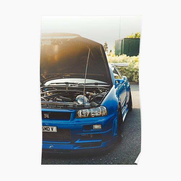 850BHP Nissan Skyline GT-R R34 VSpecIINur Poster