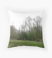 The soft greens of spring Throw Pillow