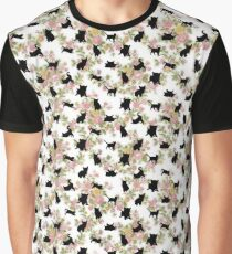 Floral Kittens Graphic T-Shirt