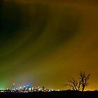 Midnight Rain Over Melbourne by Ern Mainka
