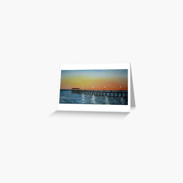 SUNSET ON HENLEY BEACH Greeting Card