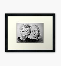 Magneto and X professor Framed Print