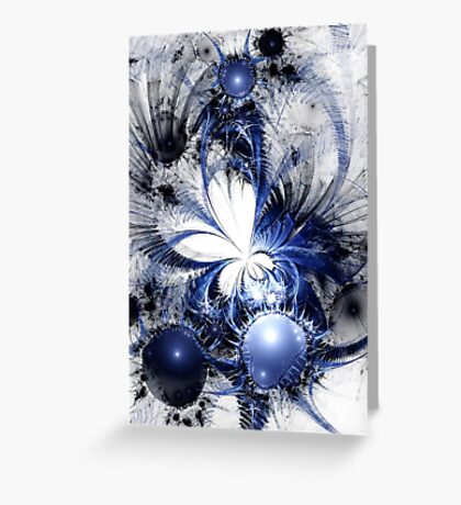 Blizzard - Abstract Fractal Artwork Greeting Card