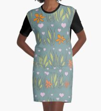 Tranquil Turquoise Graphic T-Shirt Dress