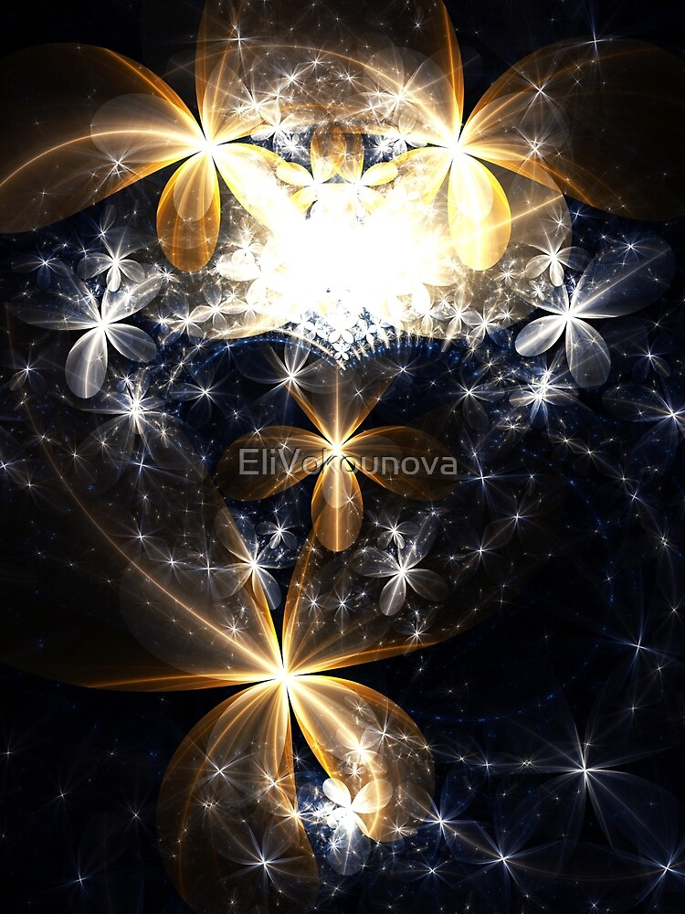 Butterfly's Heaven - Abstract Fractal Artwork by EliVokounova