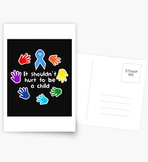 Child Abuse Prevention Awareness Blue Ribbon Postcards