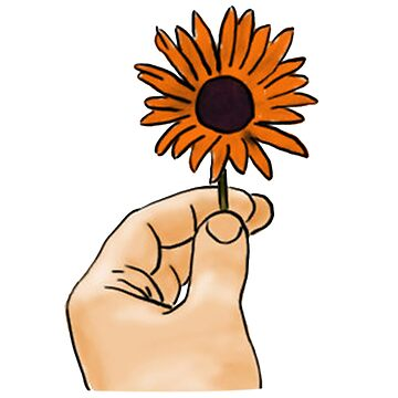 Holding Flower Hand by pennylhill4