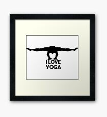 I love Yoga Framed Print
