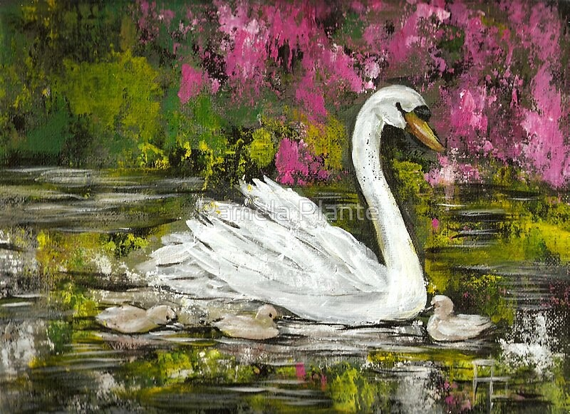 Mother Swan by Pamela Plante