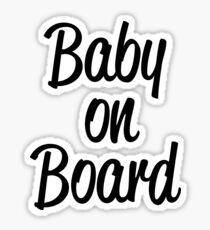 Baby on board. Sticker