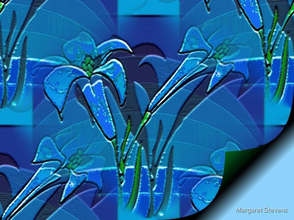 Blue Page by Margaret Stevens
