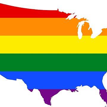 Rainbow America Silhouette  by MorganNicole021