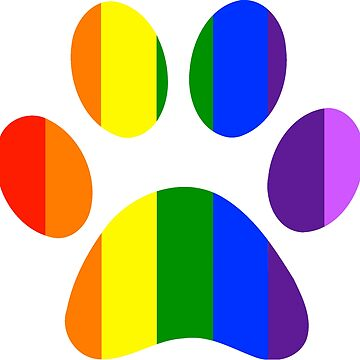 Rainbow Paw Print  by MorganNicole021