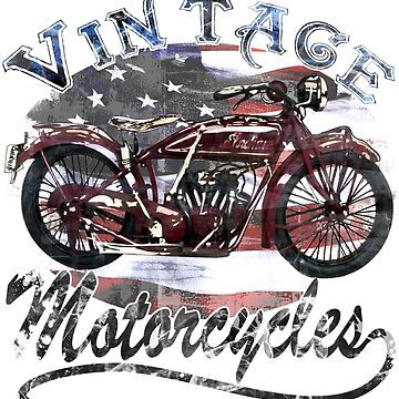 Vintage Motorcycle T Shirt by Carolynne