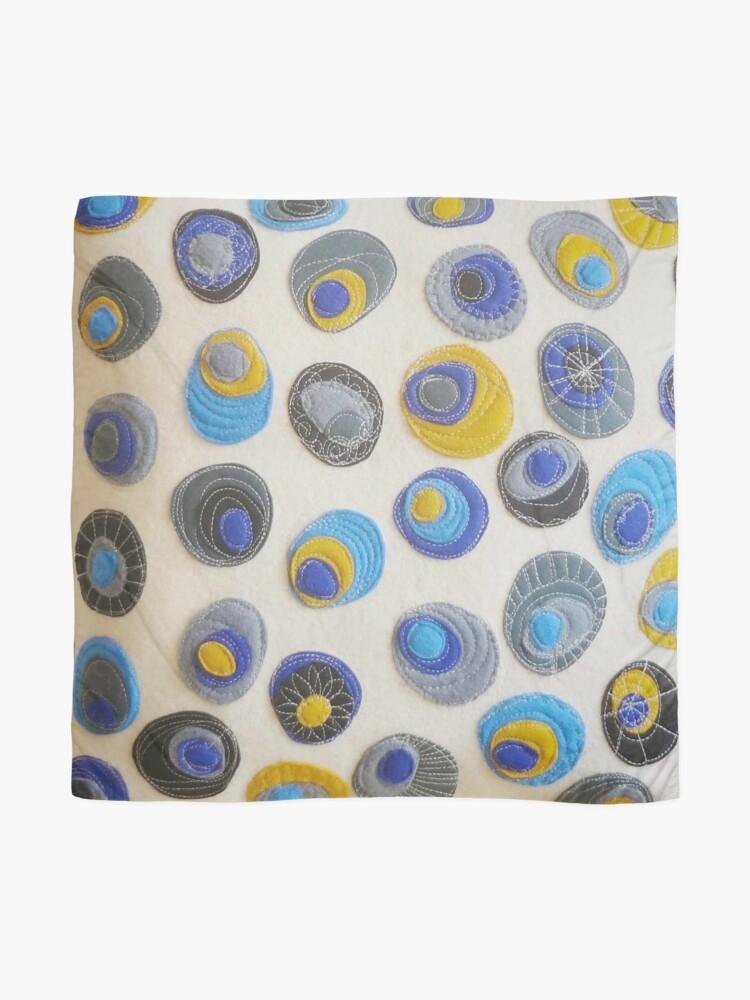 Alternate view of Sweet Pebbles - Blue  Scarf