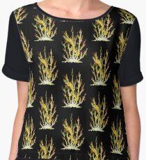 Gold Coral Chiffon Top