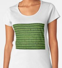 A drone shot of rows of tea plantation in the Northern Thailand  Women's Premium T-Shirt