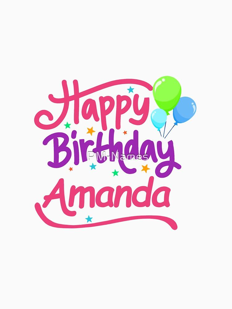 Happy Birthday Amanda by PM-Names