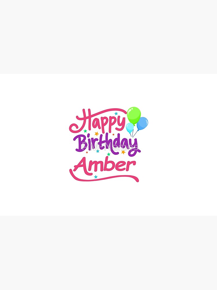 Happy Birthday Amber by PM-Names