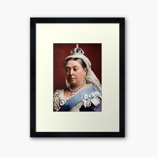 Queen Victoria 1882 colorized Framed Art Print