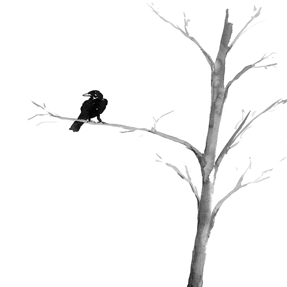 Raven in a Tree by Brazen Design Studio