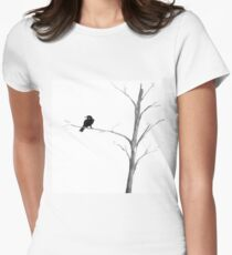 Raven in a Tree Womens Fitted T-Shirt