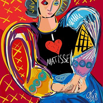 Portrait of a girl with the black shirt French Cubist Art  by signorino
