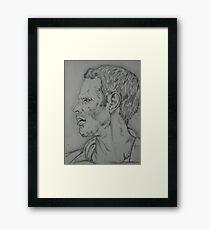 Ryan Giggs portrait Framed Print
