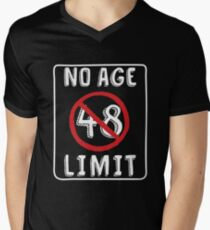 No Age Limit 48th  Birthday Gifts Comical B-day for 48 Year Old Men's V-Neck T-Shirt