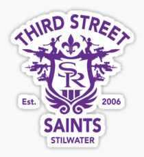 Saints Row 3 Tribute Emblem Purple Sticker
