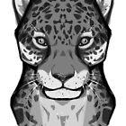 Wild Cats - Jaguar Cat Face by Nishita Wojnar